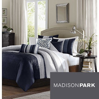Madison Park Amador Navy 6-piece Duvet Cover Set