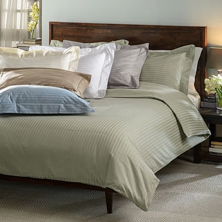 Egyptian Cotton Stripe 600 Thread Count 3-piece Duvet Cover Set