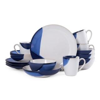 Gourmet Basics by Mikasa Caden Blue 16-Piece Dinnerware Set (Service for 4)