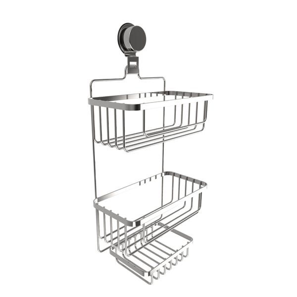 Wall Mounted 3 Tier Shower Caddy- Hanging Shower Storage Rack for Bathroom Space Saving 30063073