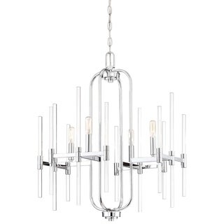 Pillar Chrome Chandelier by Minka Lavery