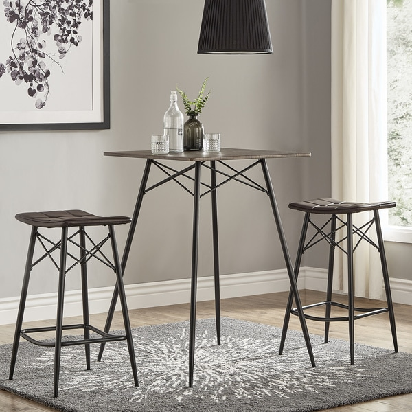 compare ambiance coaster dining chairs rustic counter height
