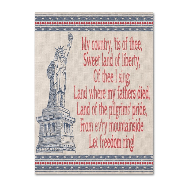 Jean Plout 'My Country' Canvas Art 30080497