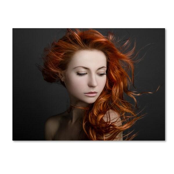 Alex Malikov 'Red Hair' Canvas Art 30093335