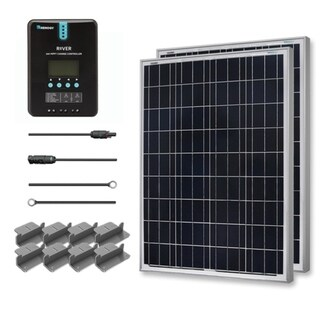 Renogy 200W 12V Premium Solar Complete Kit with AGM Battery 30109211
