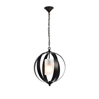 Marion Collection Pendant D15 H19 Lt:1 Black Finish