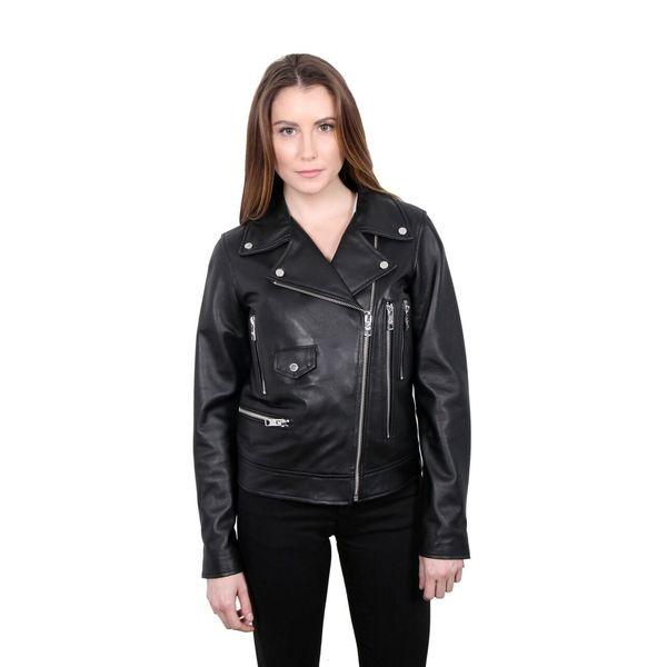 William Rast Genuine Leather Biker Jacket 30098590