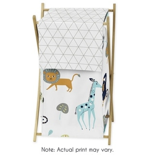 Sweet Jojo Designs Laundry Hamper for the Mod Jungle Collection - Multi