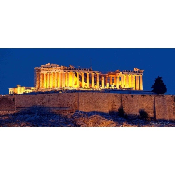 """The Parthenon"" by Howard Clark, Canvas Giclee Wall Art 30110794"