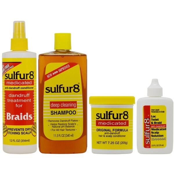 Sulfur8 Anti-Dandruff Hair & Scalp Care 4-piece Set 30119301