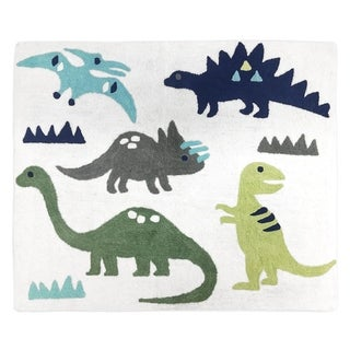 Sweet Jojo Designs Blue and Green Mod Dinosaur Collection Floor Rug