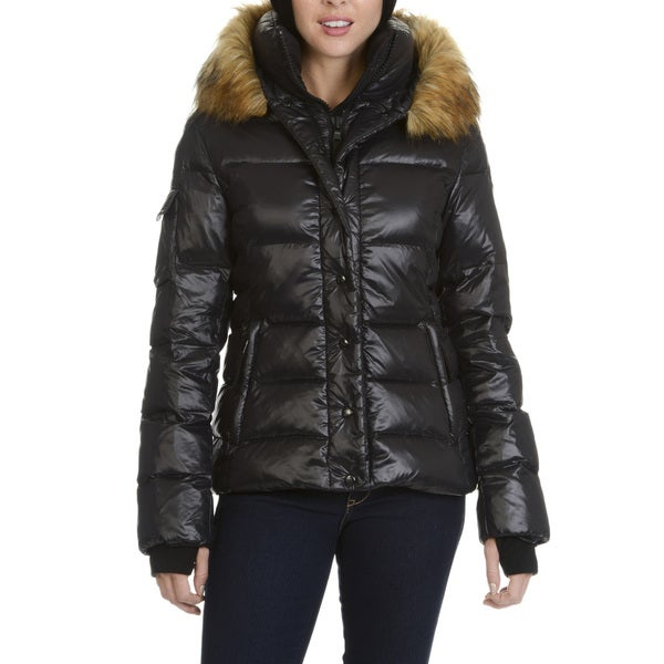 S13 New York Womens' Faux Fur Trimmed Hooded Coat 30133736