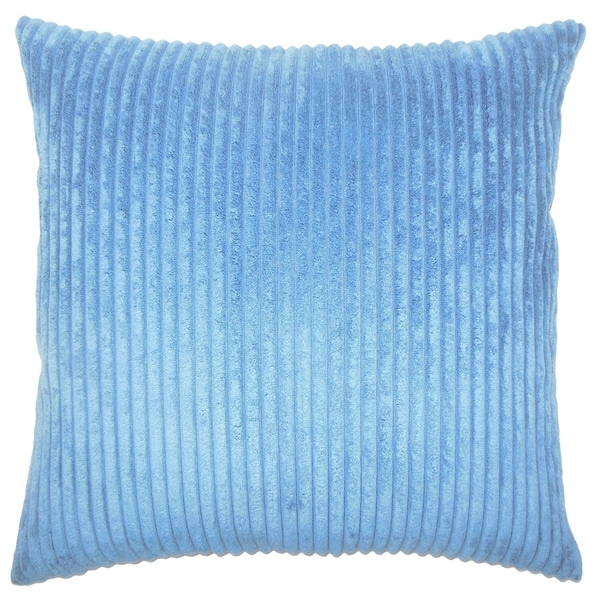 Calvine Solid Down Filled Throw Pillow in Royal Blue 30136201
