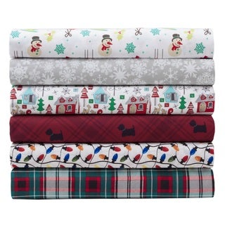 Microfiber Holiday Print Bed Sheet Sets
