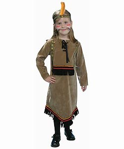 Deluxe Children's Indian Girl Dress Up Set (Size 2-18)