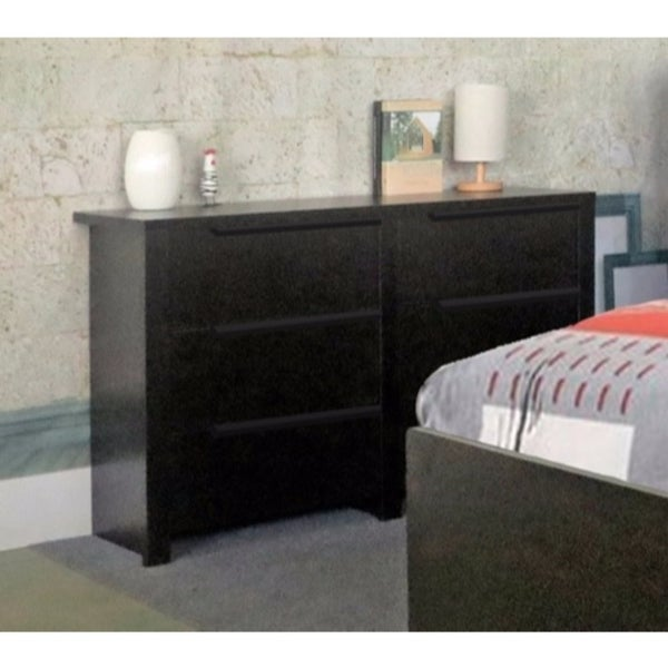 Spacious Dresser With Six Storage Drawers On Metal Glides, Brown 30145143