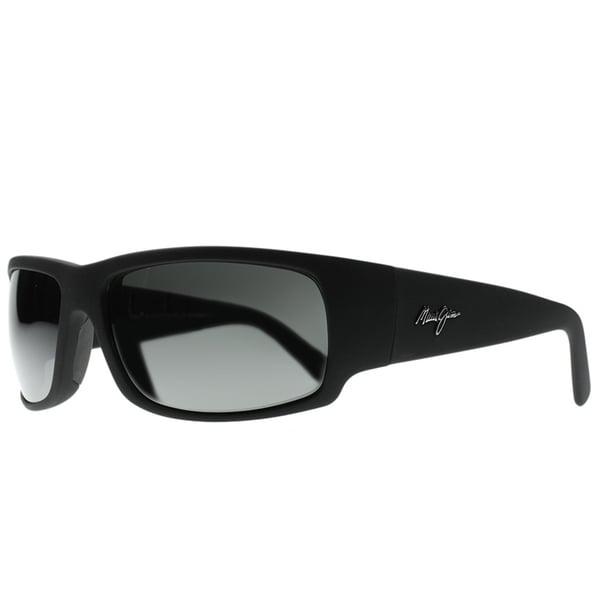 Maui Jim Unisex World Cup 266 02MR Matte Black Rubber Frame Neutral Grey Polarized Lens Wrap Sunglasses 30167409