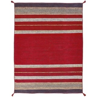 Andes Ruby Hand Made Area Rug (2' x 3') - 2' x 3'