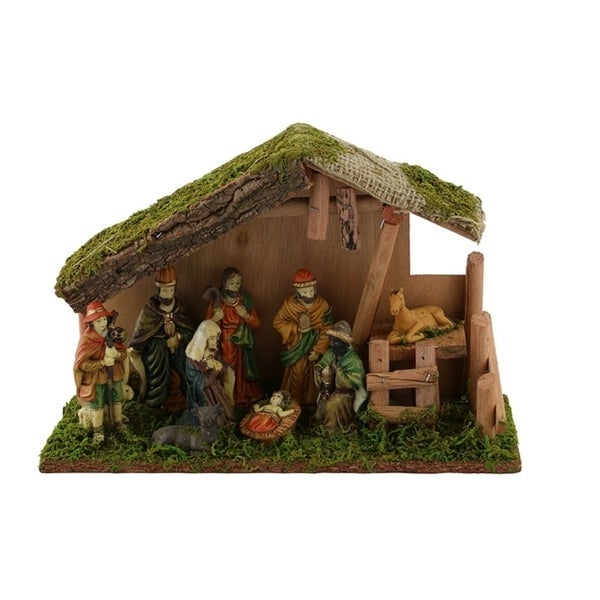 Medium Nativity Set, Handmade From Wood