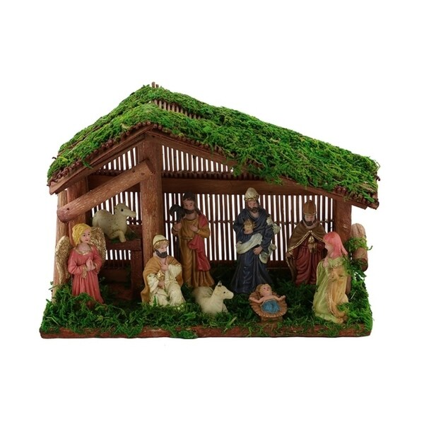 Small Nativity Set, Handmade From Wood