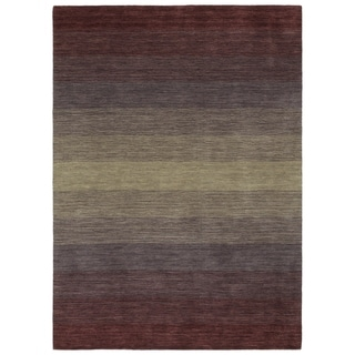 "Hand Made Blends Purple Wool Rug - 7'6"" x 9'"