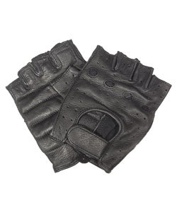 Daxx Top Grain Deerskin Fingerless Gloves