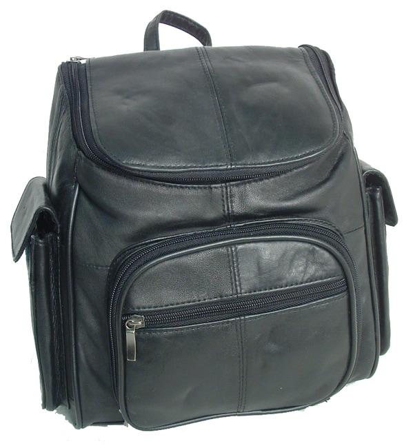 Adi Designs Leather Flip-top Backpack