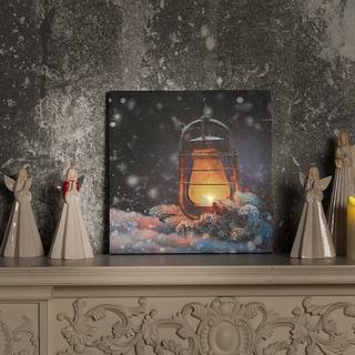 Lantern Canvas Print with LED Lights - 16 x 16