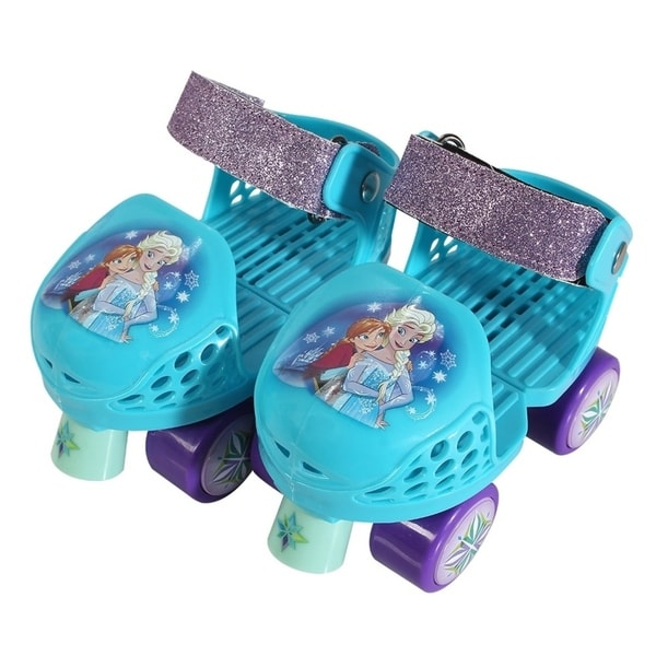 Playwheels Disney Frozen Rollerskate Junior Size 6-12 with Knee Pads 30185495