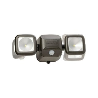 Mr. Beams  High Performance  Brown  Plastic  Security Spotlight  Motion-Sensing  LED 30186729