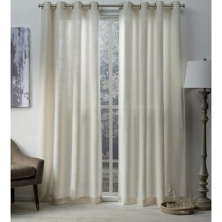 ATI Home Sparkles Metallic Grommet Top Curtain Panel Pair