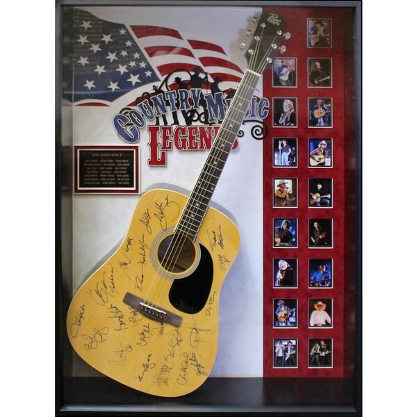 Country Music Legends - Signed Guitar USA Themed Custom Framed 30188842
