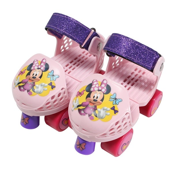 Playwheels Disney Minne Rollerskate Junior Size 6-12 with Knee Pads 30189012