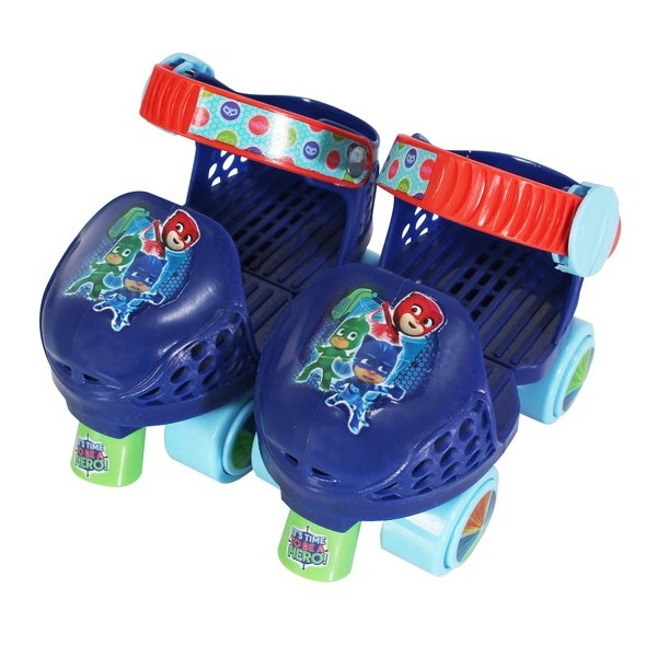Playwheels PJ Masks Kids Rollerskate Junior Size 6-12 with Knee Pads 30189021