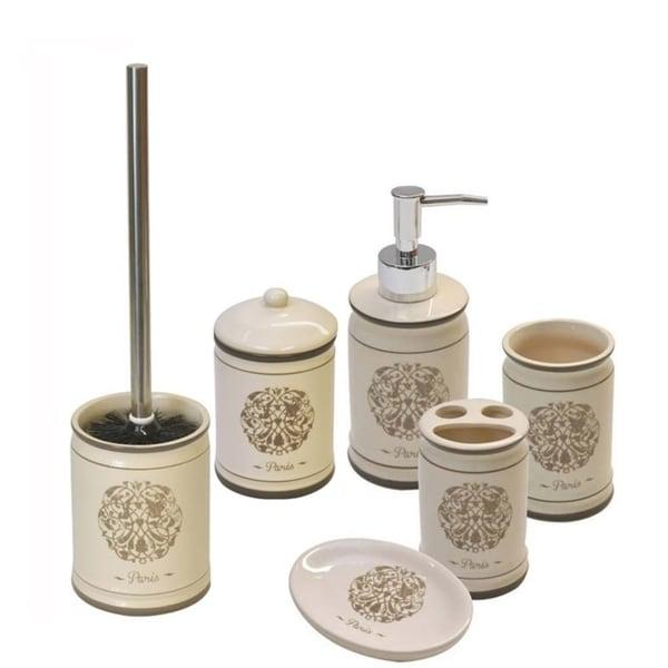 Evideco Paris Romance 6 Pieces Bathroom Accessory Set 30201910