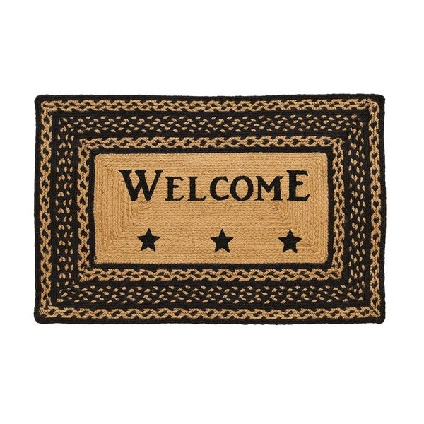 "Farmhouse Jute Stencil Welcome Rug (1'8"" x 2'6"") - 1'8"" x 2'6"" 30202127"