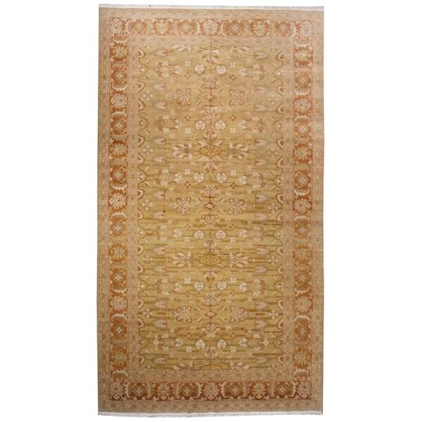 """Handknotted Designer Wool Tabriz Rug (7'10"""" x 13'11"""") - 7'10"""" x 13'11"""" 30203160"""