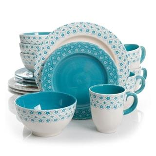 Gibson General Store 16 Piece Cottage Chic Ceramic Dinnerware Set