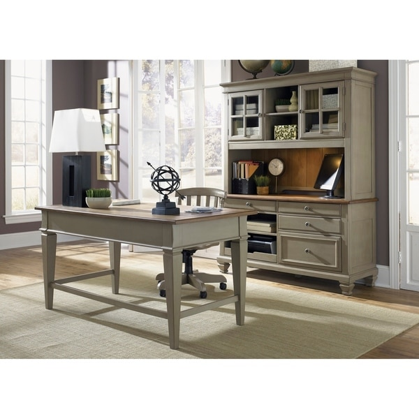 Bungalow Driftwood and Taupe 3-piece Jr. Executive Desk and Hutch Set 30203400