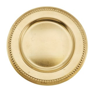 Embossed Bead Border Design Charger Plate - set of 4 pcs