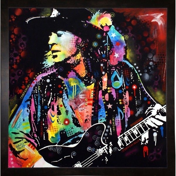 "Stevie Ray Vaughan Framed Print 7.5""x7.25"" by Dean Russo 31508236"