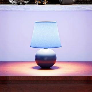 Porch & Den Clarence Mini Ceramic Globe Table Lamp