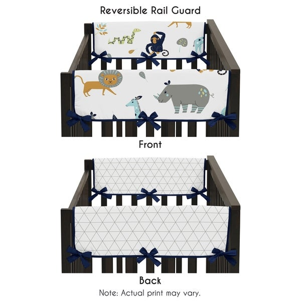 Sweet Jojo Designs Side Crib Rail Guard Covers for the Mod Jungle Collection (Set of 2) 30227330