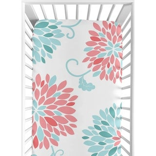 Sweet Jojo Designs Fitted Crib Sheet for the Emma Collection