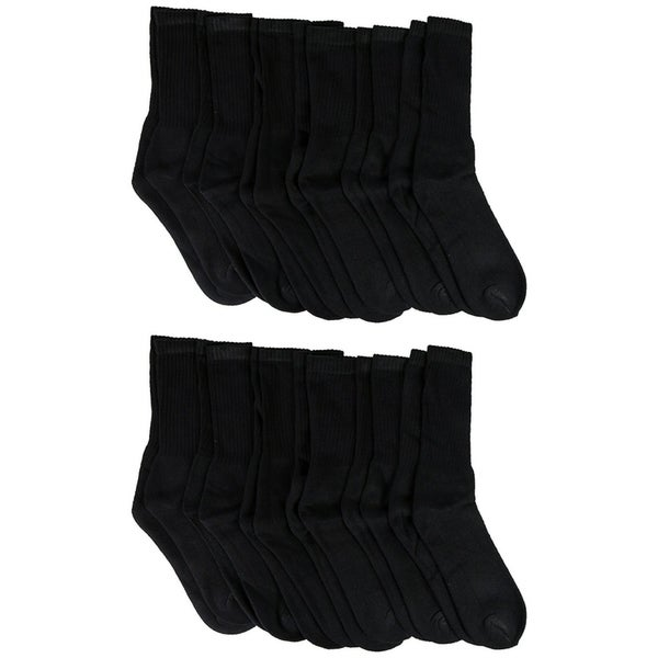 12 Pairs Womens Crew Socks Cotton, Full Terry Cushion, Bulk Athletic Crew Sock, Black, White 30227941
