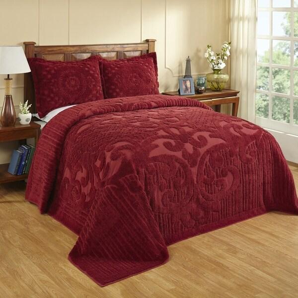 Ashton 100-percent Cotton Chenille Super Soft and Plush Bedspread 30230598