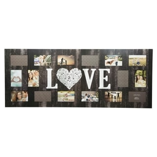 "16 Opening ""Love"" Collage Picture Frame"