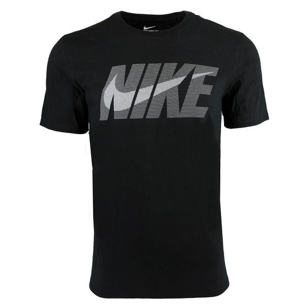 Nike Men's Cotton Swoosh Logo Graphic T-Shirt Black 30251695