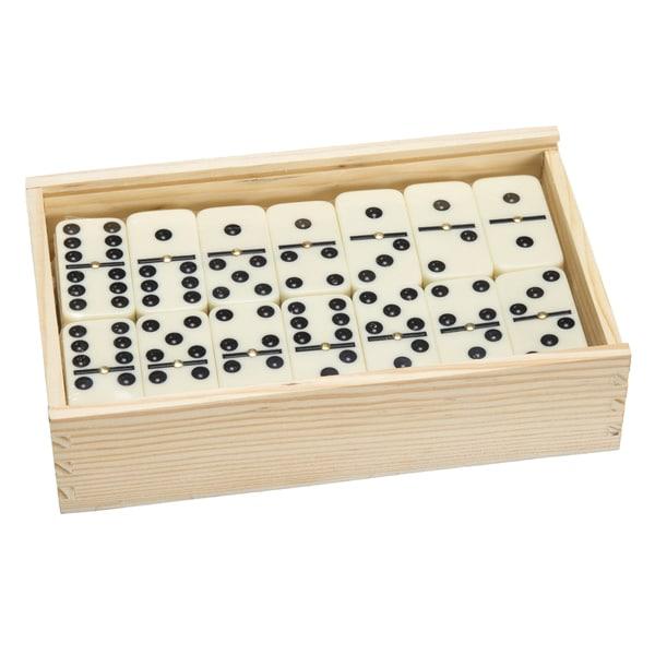 Premium Set of 55 Double Nine Dominoes w/ Wood Case 30255565