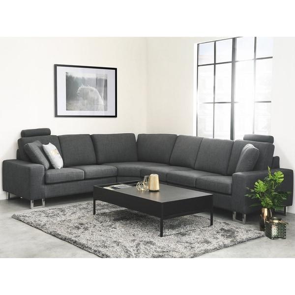 Fabric Sectional Sofa - Gray STOCKHOLM